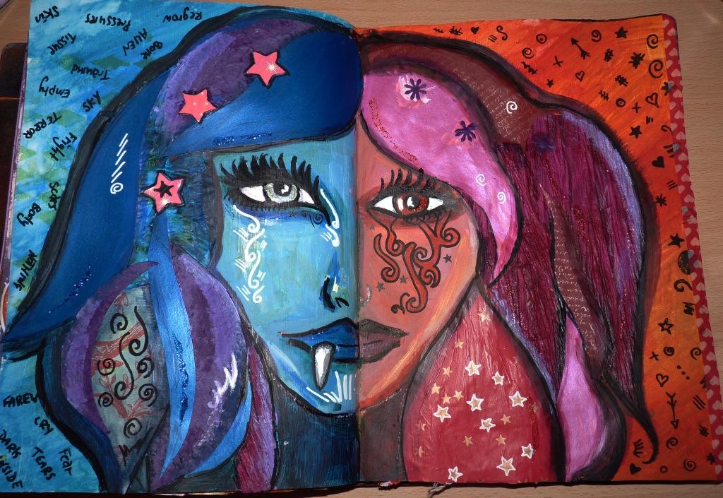 art journal 2 face