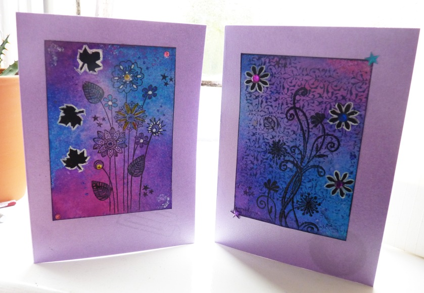 Shimmery Mixed Media Cards