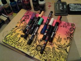 Some doodles and paint pens