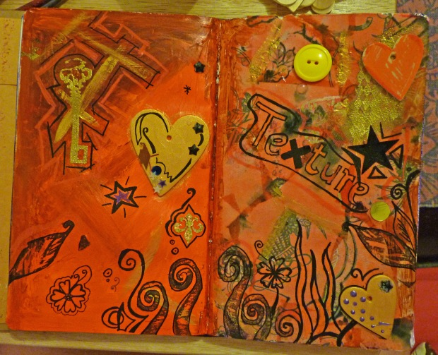journal texture page