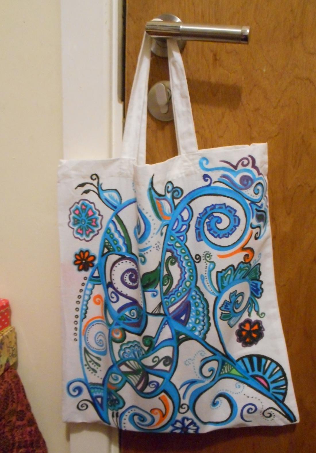 finished doodle bag