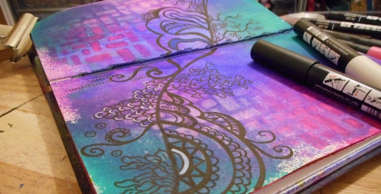 Some more art journaling