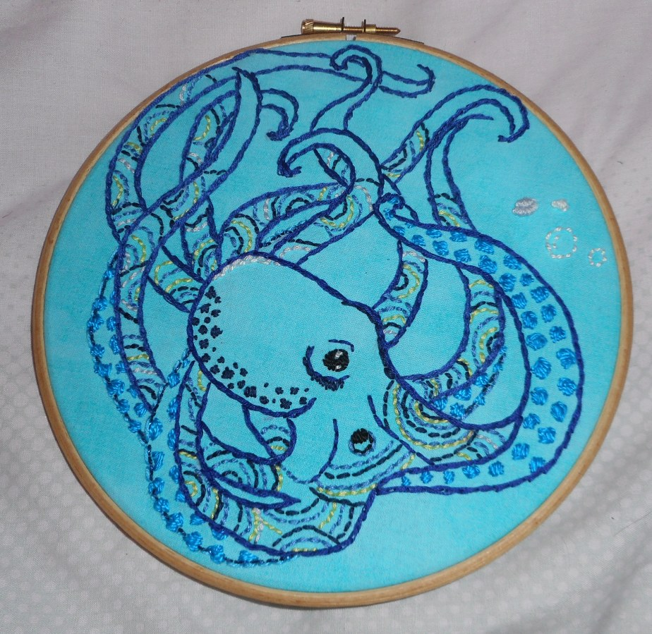 Embroidery Octopus!
