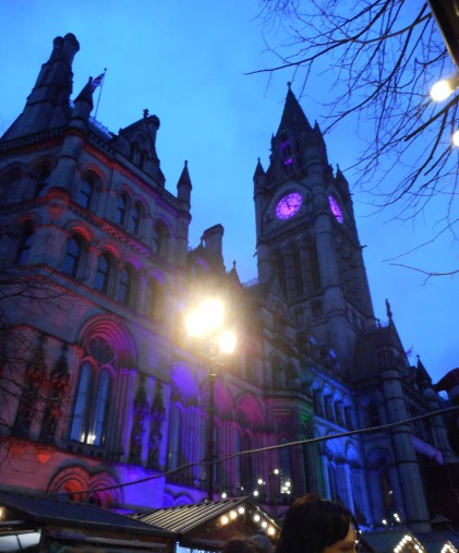 Town Hall lit up