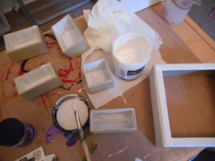 Coating with gesso