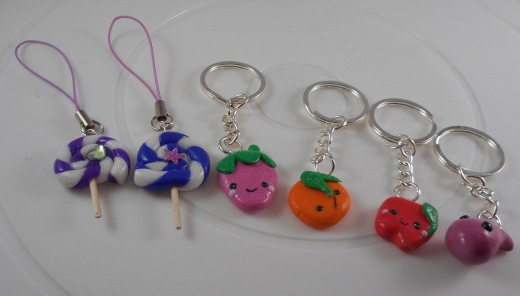 Polymer Clay Keyrings