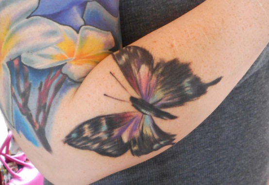 Butterfly tattoo watercolour