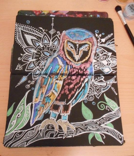 Art Journal Owl