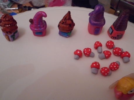 Fairy Houses and Mushrooms