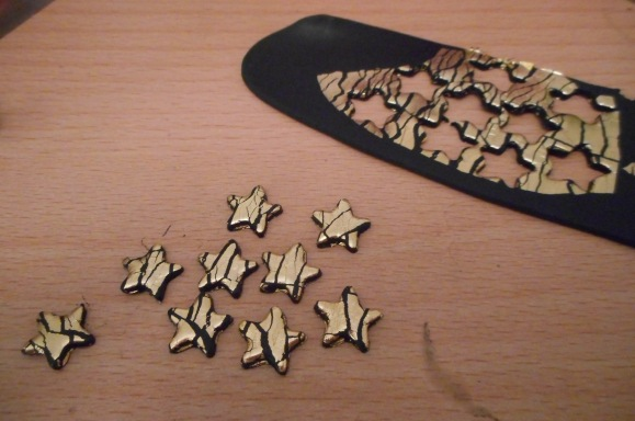 Gold Leaf and Fimo Clay
