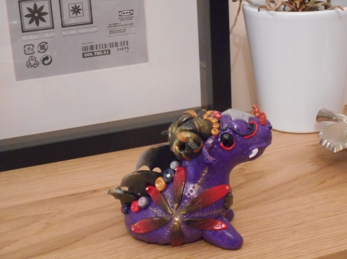 Polymer Clay Monster Purple
