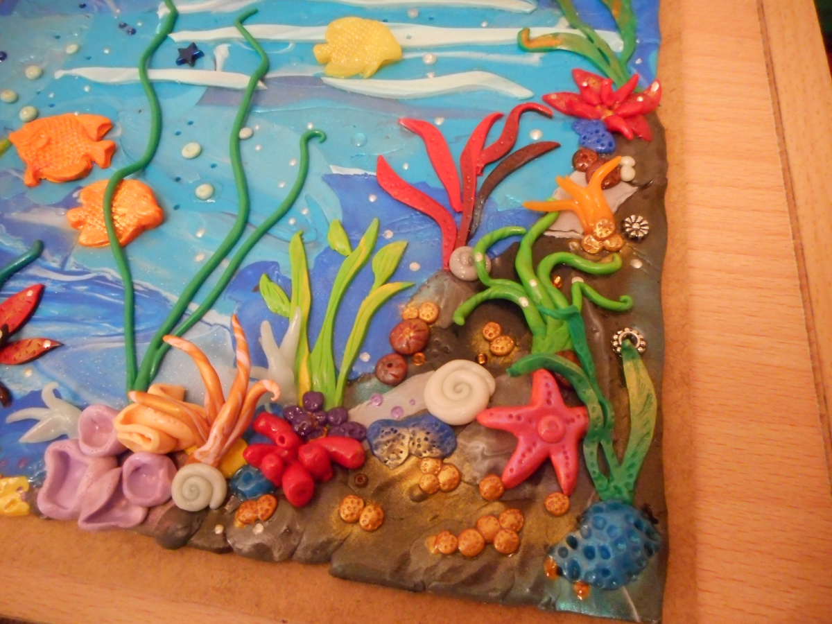 Polymer Clay Fantasy Sea Painting