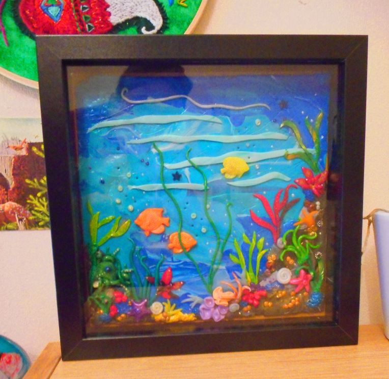 Polymer Clay Sea Themed Frame Piece