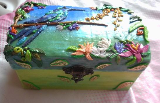 Close Up Clay Covered Box Front