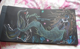 Metallic pencils mermaid