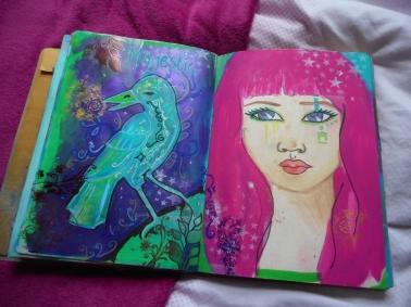 Art journal Pink hair