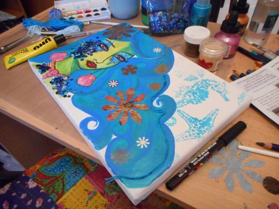 Mixed Media Canvas ~ SeaGoddess