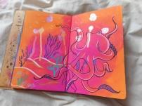 Ink drips & Octopus