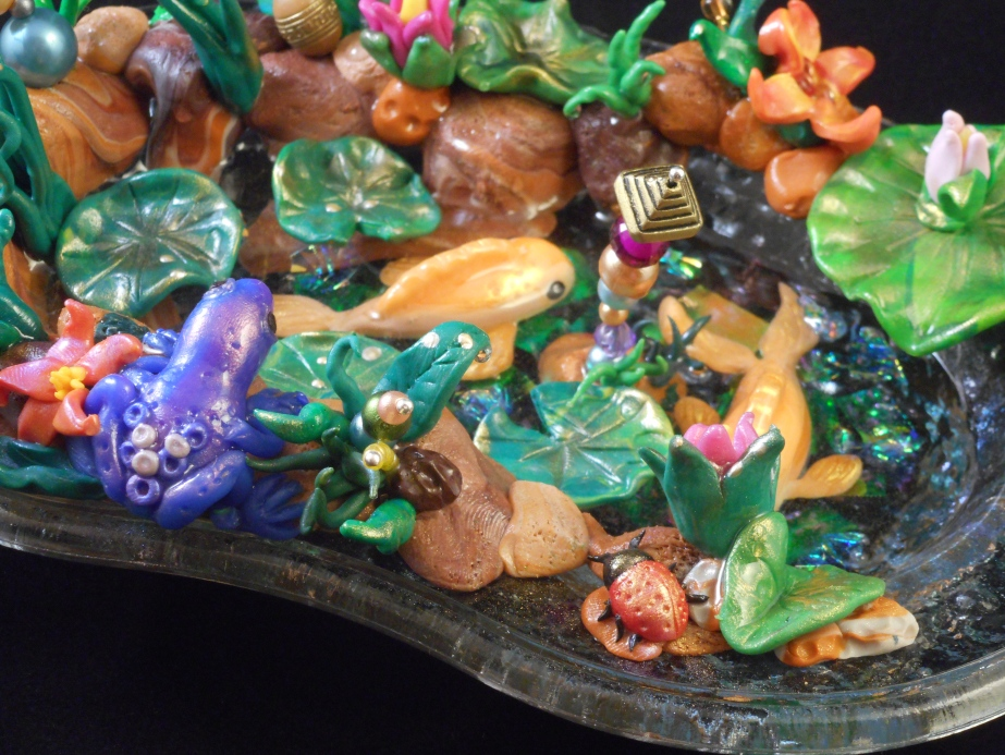 Mixed Media Polymer Clay Fantasy Pond