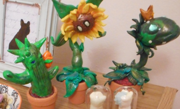 plants made from polymer clay