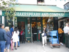 The Shakespeare and Company bookshop
