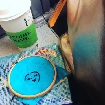 Embroidery on the Train