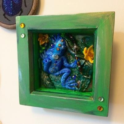 Polymer Clay Frog Frame
