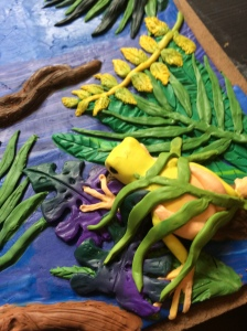 Polymer Clay tropical frog