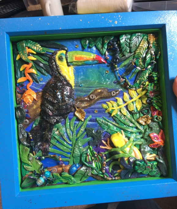 Mixed Media Toucan Frame