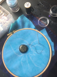 Making a Bead Embroidery Spider