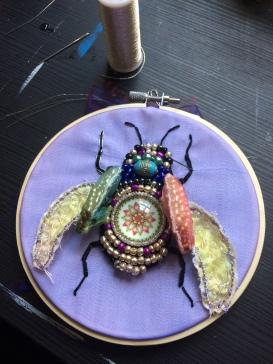 Embroidery stumpwork