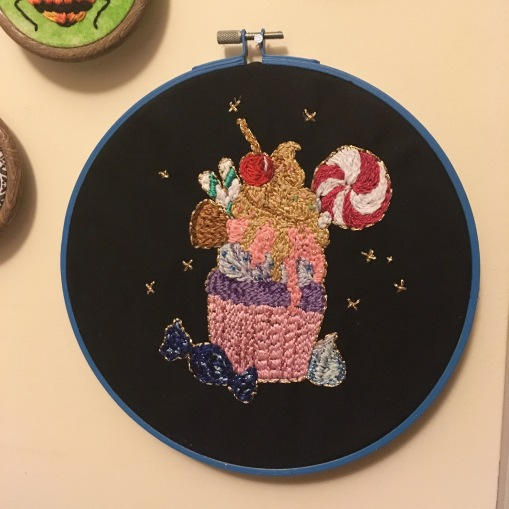 Cupcake Embroidery